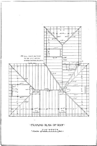 Vintage house plans 101 examples downloadable vintage for House framing 101
