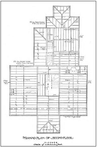 how to draw floor framing plan